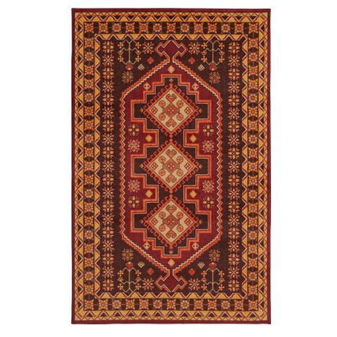 Mohawk Home Prismatic Bryant Traditional Aztec Border Area Rug (5' x 8')