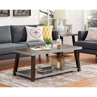 Larissa Wood and Metal Square End Table