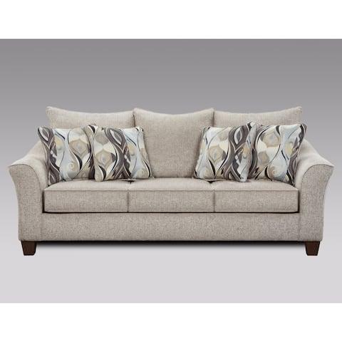 Camero Fabric Pillowback Sofa