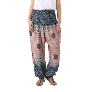 Handmade Rayon 'Exotic Holiday in Blue' Harem Pants (Thailand)