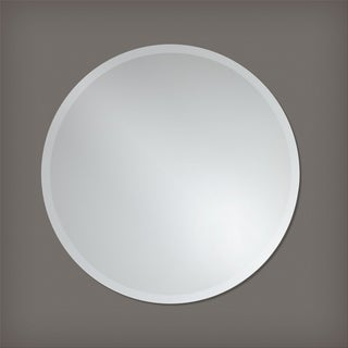 Frameless Round Wall Mirror by The Better Bevel - Silver