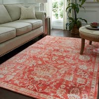 Copper Grove Indravati Traditional Distressed Floral Grey Area Rug - 5' x  8'