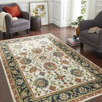 Copper Grove Sagarmatha Traditional Distressed Floral Area Rug - 8' x 10'