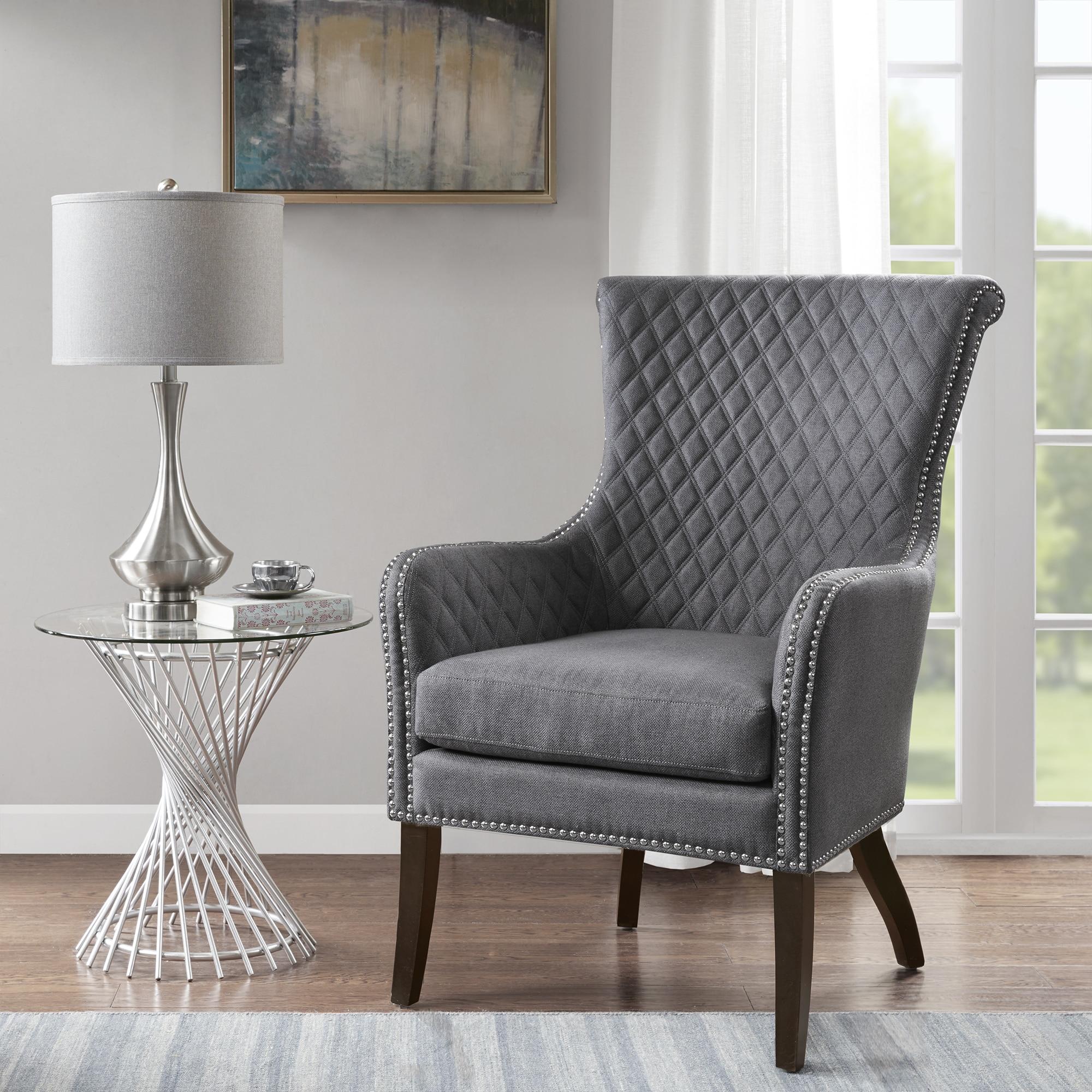 grey accent chair cheap