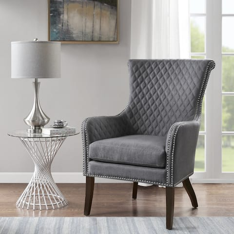 Madison Park Lea Grey Accent Chair