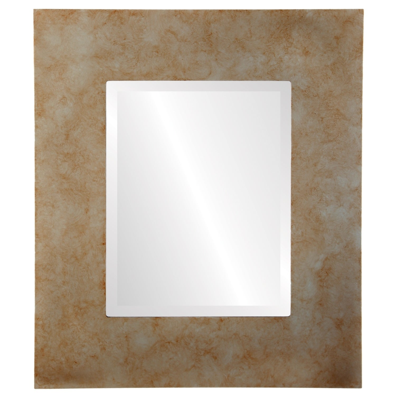 Tribeca Framed Rectangle Mirror in Burnished Silver - Antique Silver (Medium (15-32 high) - 23x27)
