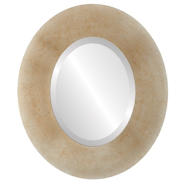 Tribeca Framed Oval Mirror in Burnished Silver - Antique Silver