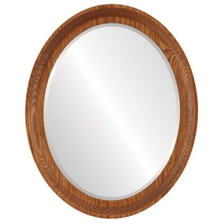 Vancouver Framed Oval Mirror in Carmel - Amber