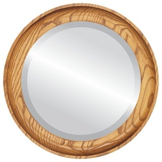 Vancouver Framed Round Mirror in Carmel - Amber