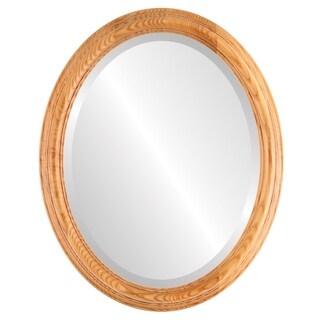 Melbourne Framed Oval Mirror in Carmel - Amber