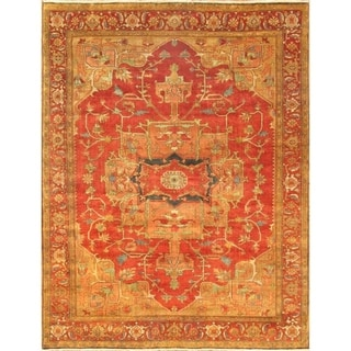 """Pasargad Serapi Hand-Knotted Rust Wool Area Rug (10' 2"""" X 13' 9"""") - 10' x 14'"""
