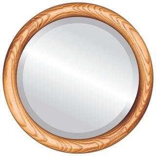 Sydney Framed Round Mirror in Carmel - Amber