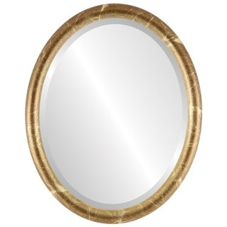 Pasadena Framed Oval Mirror in Champagne Gold - Antique Gold
