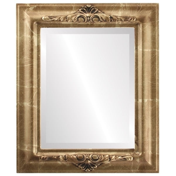 Winchester Framed Rectangle Mirror in Champagne Gold - Antique Gold (Medium (15-32 high) - 21x25)