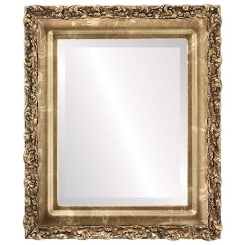 Venice Framed Rectangle Mirror in Champagne Gold - Antique Gold