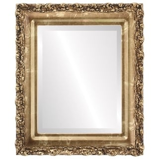 Venice Framed Round Mirror in Champagne Gold - Antique Gold