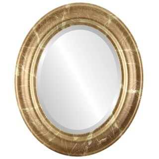 Lancaster Framed Oval Mirror in Champagne Gold - Antique Gold
