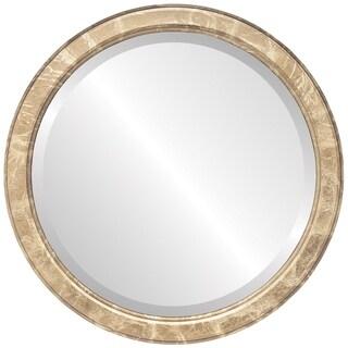 Toronto Framed Round Mirror in Champagne Gold - Antique Gold