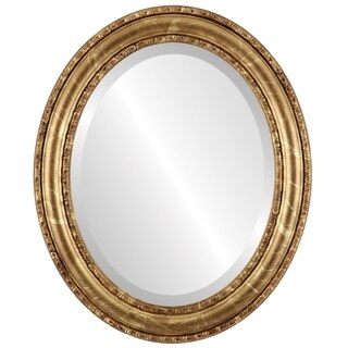 Dorset Framed Oval Mirror in Champagne Gold - Antique Gold