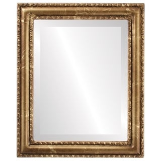 Dorset Framed Round Mirror in Champagne Gold - Antique Gold