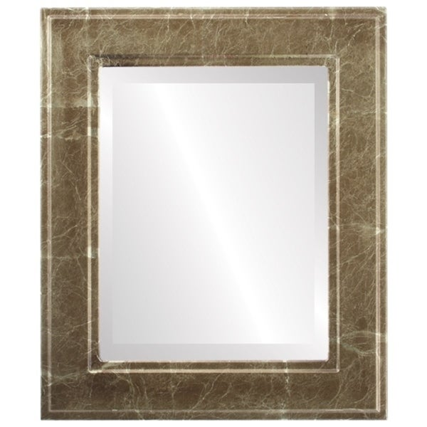 Montreal Framed Rectangle Mirror in Champagne Gold - Antique Gold
