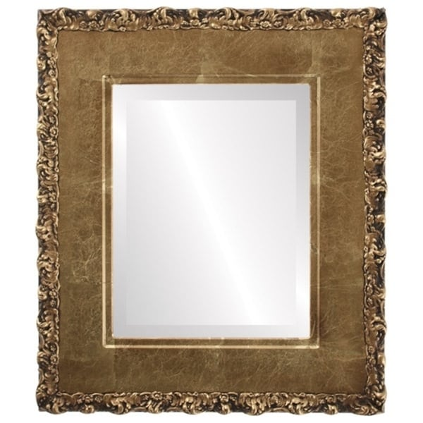 Williamsburg Framed Rectangle Mirror in Champagne Gold - Antique Gold