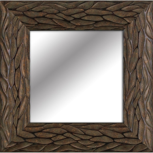 Shop 14.5x14.5 Gold Bark decorative mirror set of 4 by ...