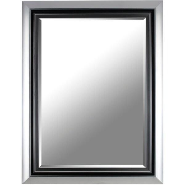 26.37X34.37 Fancy decorative wall mirror by Mirrorize Canada - Silver - 26.37x34.37x2