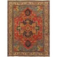 "Pasargad Serapi Hand-Knotted Rust/Ivory Wool Rug (10' 0"" X 14' 0"")"