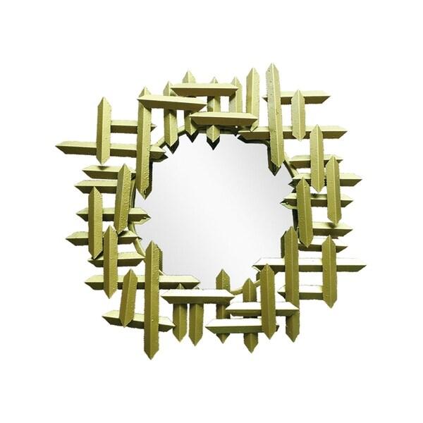 "Handmade Brushed Gold Cassius Mirror - 31"" x 31"""