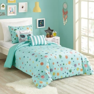 Link to Urban Playground Raining Pom Pom Comforter Set Similar Items in Kids Comforter Sets