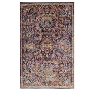 Copper Grove Chetra Distressed Vintage Floral Area Rug - 8' x 10'