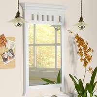 Ronbow Deanne Transitional White Solid Wood Framed 24-inch Bathroom Mirror