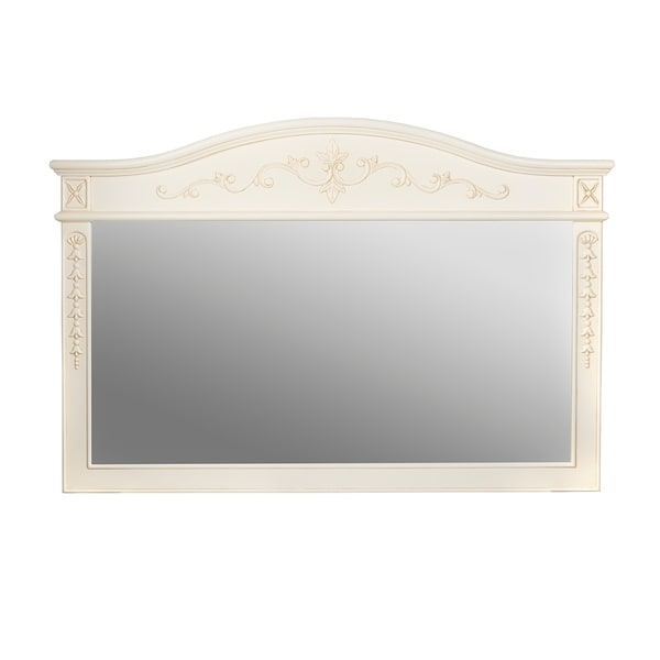 Shop Ronbow Bordeaux 60 X 39 Wood Framed Mirror In Antique White