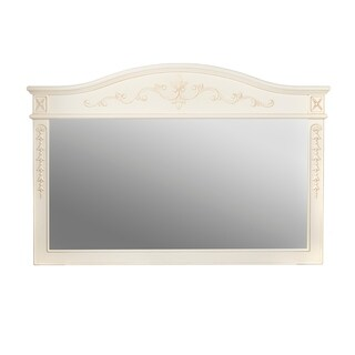 "Ronbow Bordeaux - 60"" x 39"" Wood Framed Mirror in Antique White - antique white - f12 - 60 inch"
