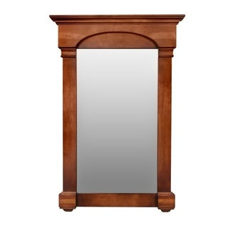 """Ronbow Verona Style Wood Framed Mirror in Colonial Cherry - 27"""" x 39"""" - colonial cherry (f11) - 27 inch"""