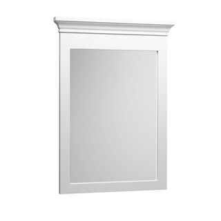 "Transitional Style Wood framed mirror - 24"" x 33""-Cream - cream - f16 - 24 inch"