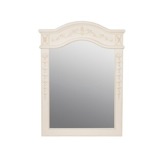 "Bordeaux - 24"" x 34"" Wood framed mirror-Antique White - antique white - f12 - 24 inch"