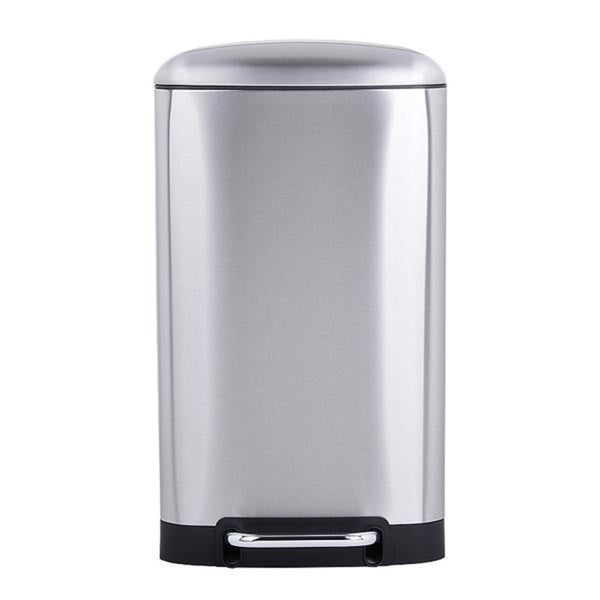 Shop Rikki Quot Slow Close Quot Stainless Steel Trash Can 30 Liter