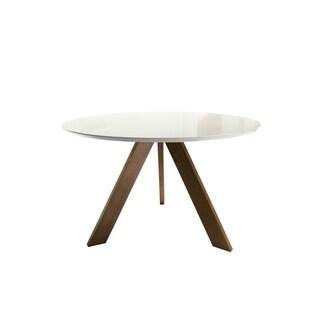 Carson Carrington Taastrup Round Mid-century Modern Dining Table