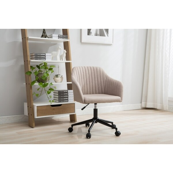 Porthos Home Adjule Height Fabric Office Desk Chair With Arms