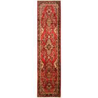Handmade Herat Oriental Persian Hand-Knotted Tribal Hamadan Wool Runner (3'1 x 12'7) - 3'1 x 12'7