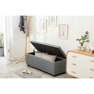 "Porthos Home Foldable 46"" Large Rectangular Fabric Storage Ottoman"