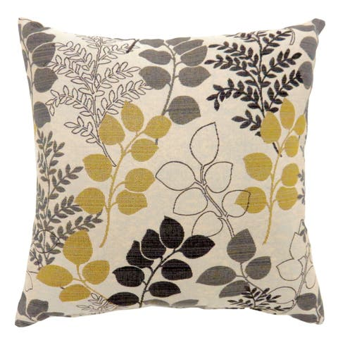 Furniture of America Tandy Petals and Leaves Throw Pillows (Set of 2)