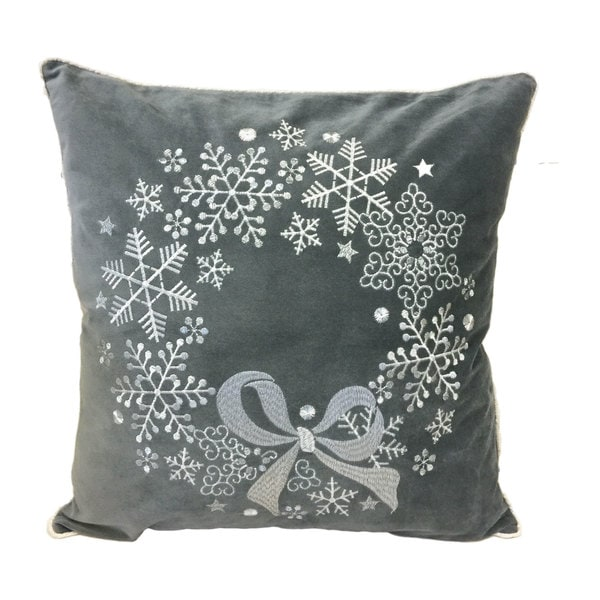 Shop Fancy Holiday Reef Silver Embroidered Velvet Poly Or