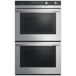 Fisher & Paykel OB30DDEPX3 30 Inch Double Electric Wall Oven with 9 cooking modes, Self Clean, Catalytic Smoke Eliminator