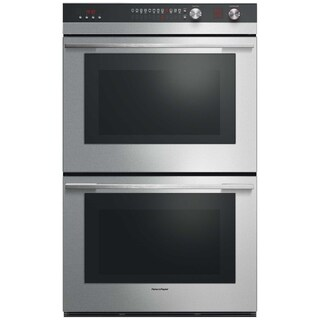 Fisher & Paykel OB30DTEPX3 30 Inch Double Electric Wall Oven with AeroTech Convection, Self Clean, Catalytic Smoke Eliminator