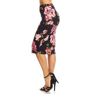 Women's Floral Pattern Print Pencil Skirt