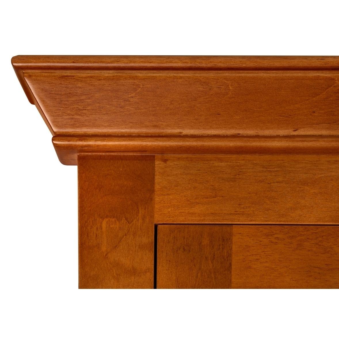 27 Tristan Transitional Solid Wood Framed Medicine Cabinet In Cinnamon