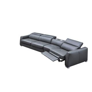 Luca Home Modern Dark Grey Sleeper Sectional W/ Speaker